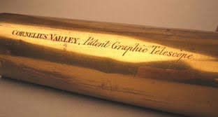 Engraved inscription on the body of the graphic telescope