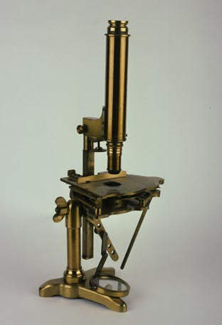 Microscope with a stage designed by Varley