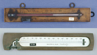 Minimum and maximum thermometers