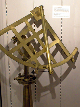 A John Bird 18-inch quadrant, very similar to the one taken on Cook's 1768-71 voyage.