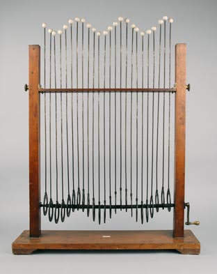 Powell's machine for demonstrating wave motion