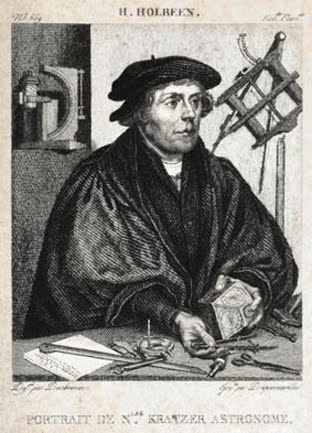 18th century print after a painting of Kratzer by Hans Holbein