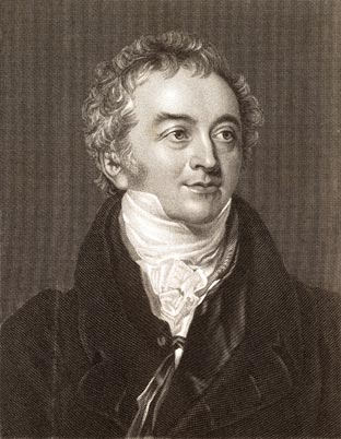 Engraving of a portrait of Thomas Young