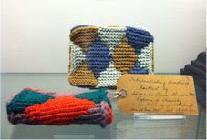 Two knitted models of interpenetrating surfaces