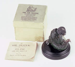 Dragoyle air tester with accompanying booklet