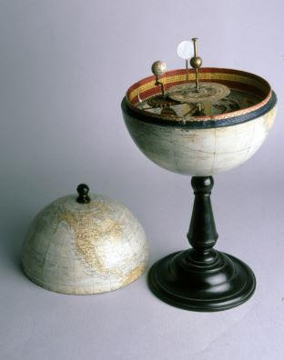10 inch terrestrial globe containing orrery