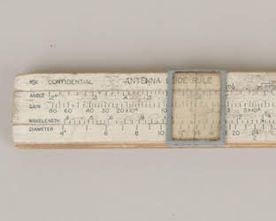Lawrence antenna slide rule