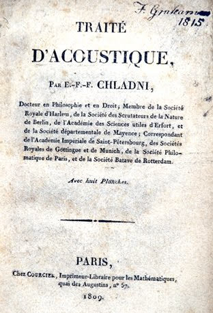 Title page from the French edition of Chladni's Die Akustic