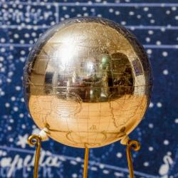 Detail of the silver globe
