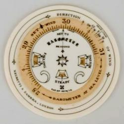 A pocket forecaster dial.