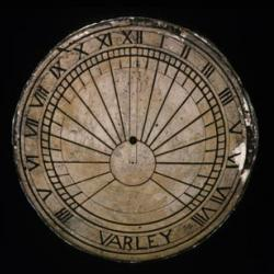 A plaster sundial made by Varley