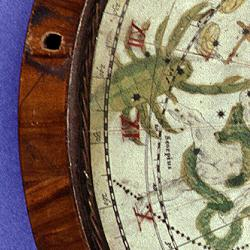 Detail of the planisphere on which the English Globe rests.