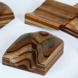 Selection of wooden geological teaching models