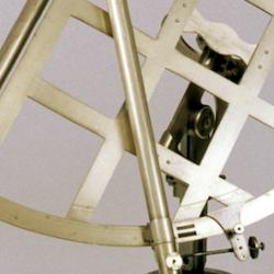 Close-up of W.1084, a John Bird 18-inch quadrant, very similar to the one taken on Cook's 1768-71 voyage