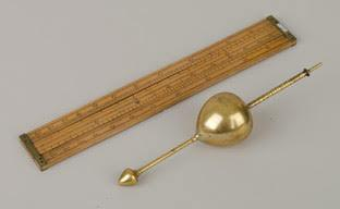 Hydrometer and brewer's slide rule