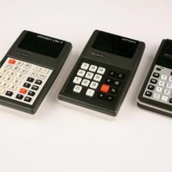 The Decimo Vatman I, V.Sc. II, and Extra S electronic calculators