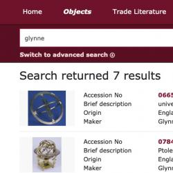 Screenshot of Collections Portal