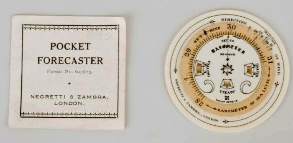 A pocket forecaster dial.