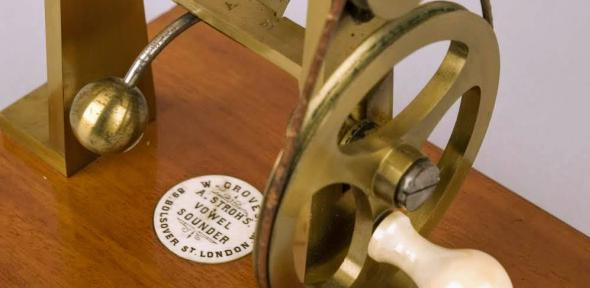 Detail of automatic phonograph