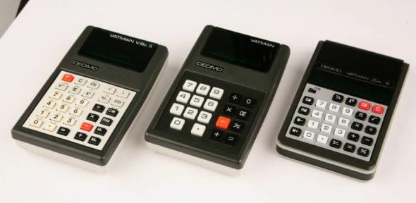 The Decimo Vatman I, V.Sc. II, and Extra S electronic calculators