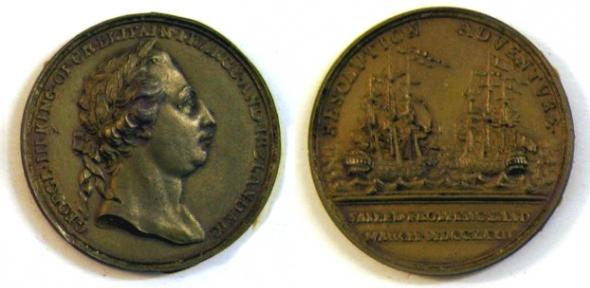 Cast of trading medal taken by Cook on his second voyage to the Pacific