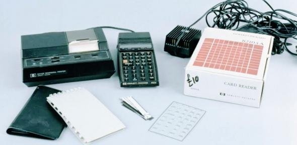 Hewlett-Packard HP-41CV, 1990 (orig. 1979), with add-ons (Wh.5839).