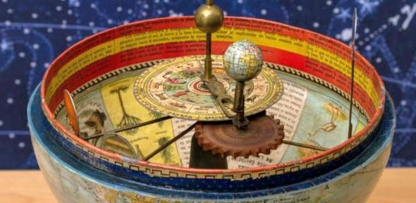 Detail of Spanish Globe interior showing orrery.