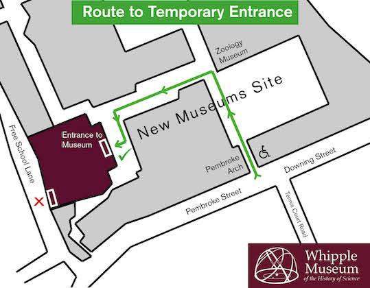Map to Museum's back entrance