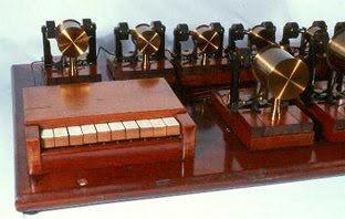 Helmholtz's apparatus for the synthesis of sound