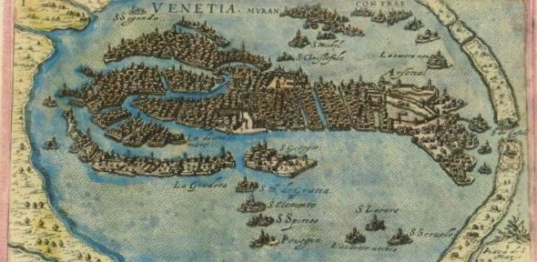 Engraving of Venice by Giacomo Franco
